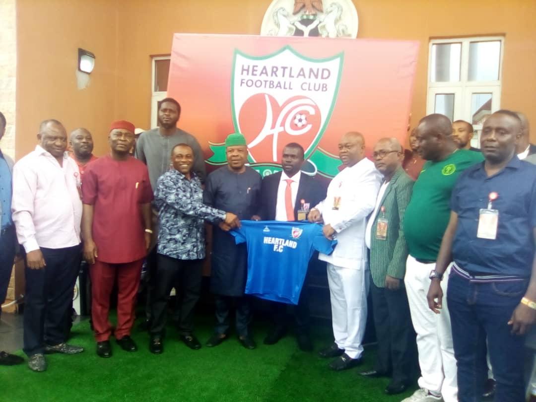 Imo Governor Ihedioha unveils new Heartland boss Fidelis Ilechuckwu