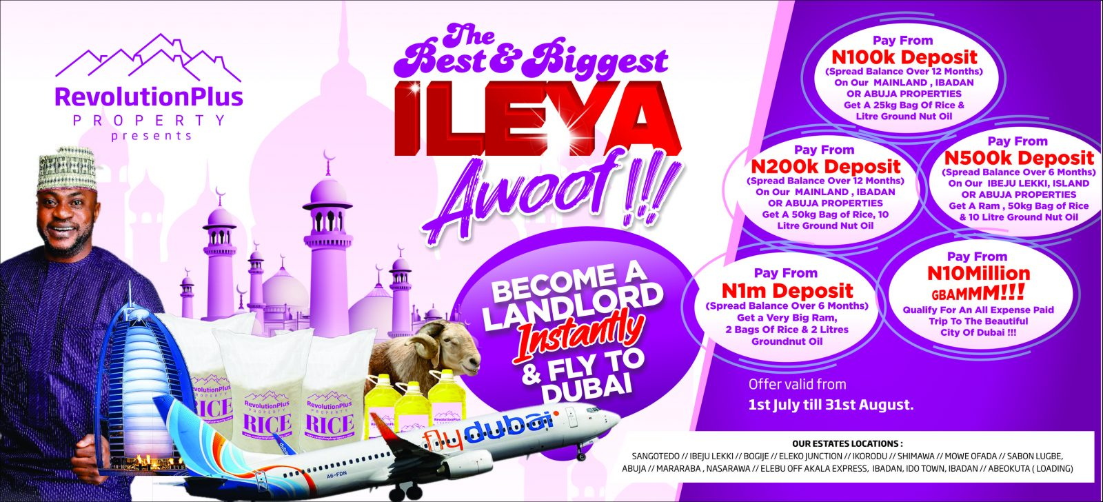 Become A Landlord with RevolutionPlus' ILEYA Awoof