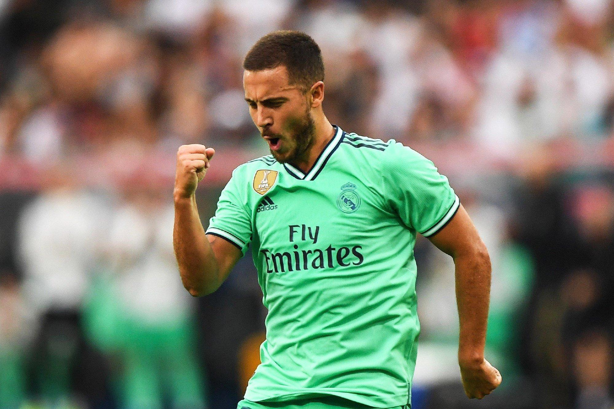 Hazard scores first Real Madrid goal
