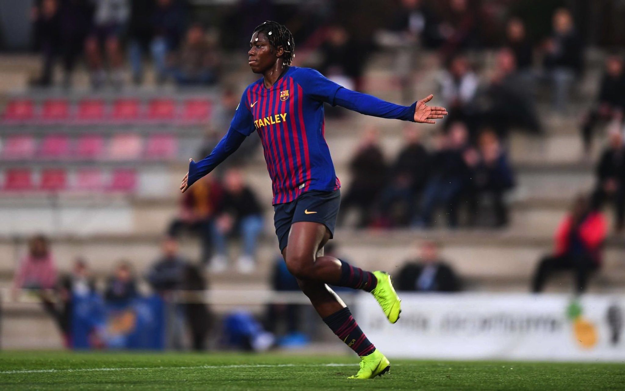 Oshoala Grabs Hat-trick In Barcelona Win Over AEM Lleida