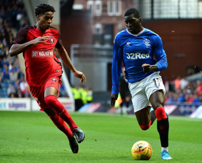 Onuachu injured, Onyeka hapless as Ojo inspires Rangers' UEL win over Midtjylland