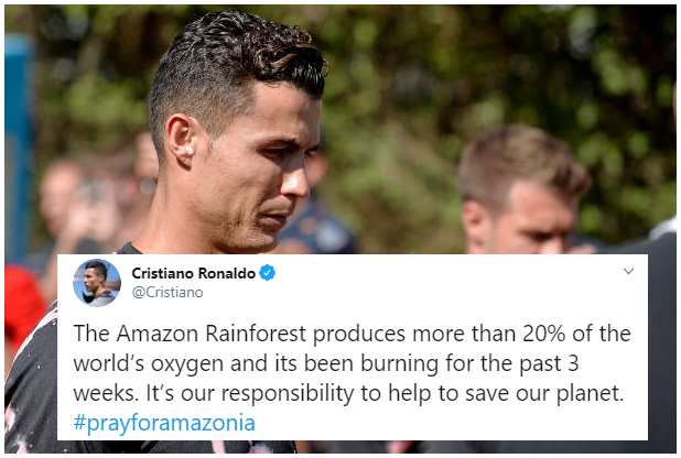 huge discount 3b65d 7f15b Juventus Star Cristiano joins call for action on Amazon ...