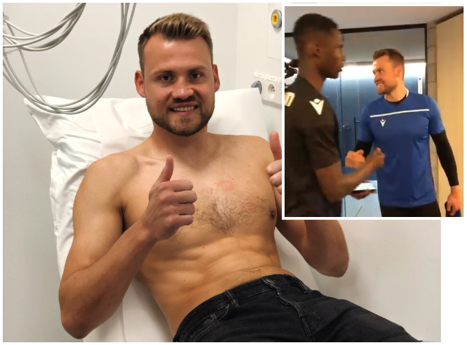 Mignolet receives Warm, Nigerian hospitality at Club Brugge