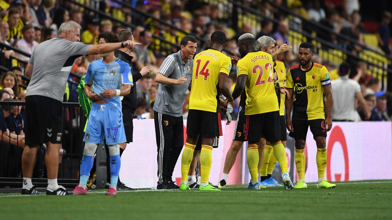 Success bags assists, Dele-Bashiru makes debut in Watford win over Conventry