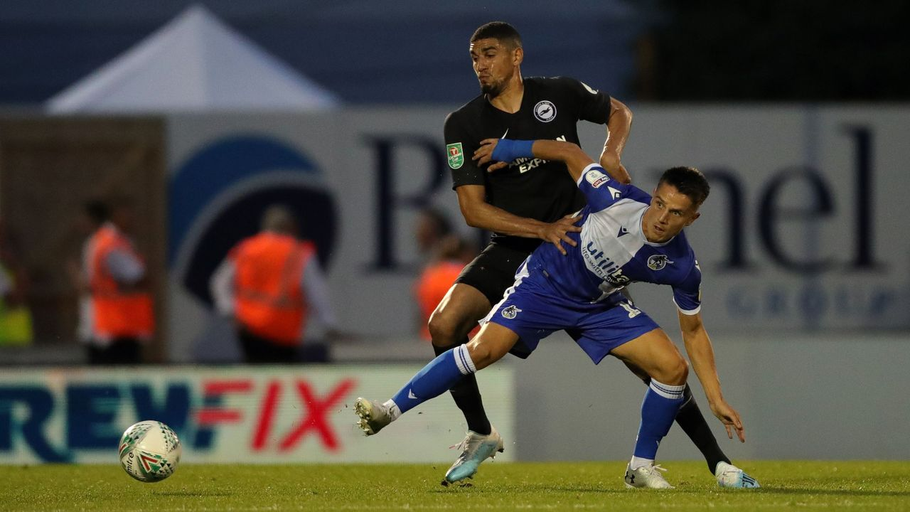 Balogun returns to action in Brighton's EFL Cup win