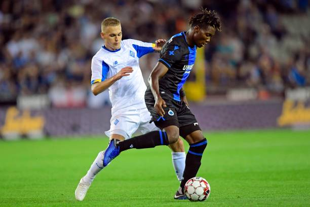 UCL: Dynamo Kyiv fall in Bruges but end David Okereke's scoring streak