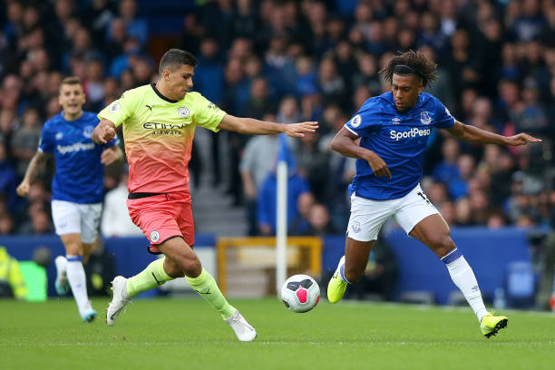 Iwobi In Action As Man City Edge Out Everton 3-1 At Goodison Park