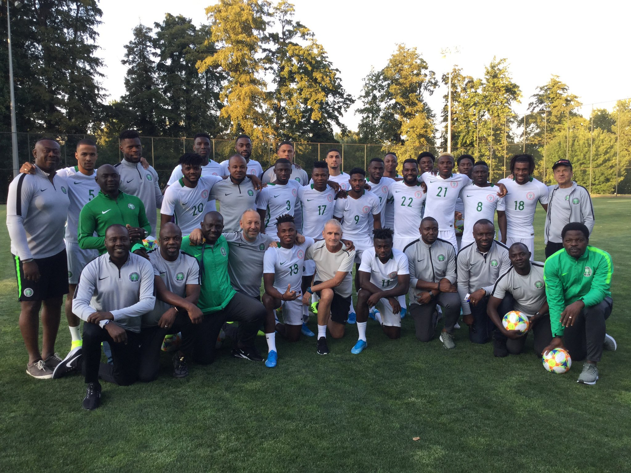 Super Eagles Holds First Training Session In Dnipro