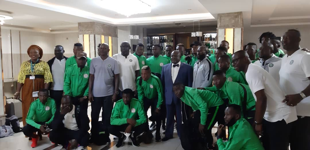 Ambassador Sola Iji charges CHAN Eagles to fly over Sparrow Hawks
