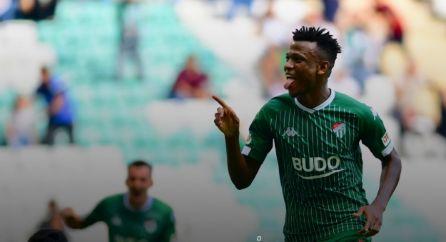 Shehu Abdullahi smashes home first goal of the season
