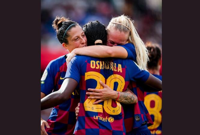 Oshoala bags brace as Barcelona pound Atletico 6-1 in La Liga