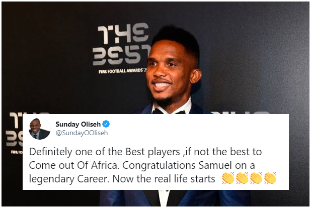 Oliseh suggests Samuel Eto'o is Africa's best ever
