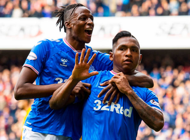 Glasgow Rangers Celebrates Aribo's Scoring Feat For Nigeria