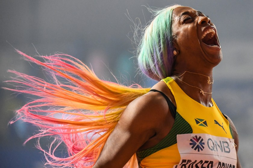 Shelly-Ann Fraser-Pryce return to the Podium after child birth at 32