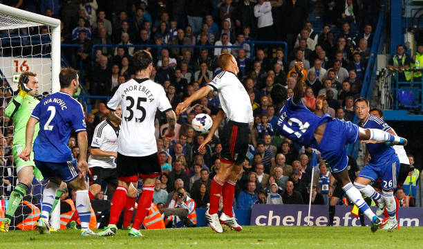 Mikel Obi's first and only ever Premier League goal celebrated by Chelsea