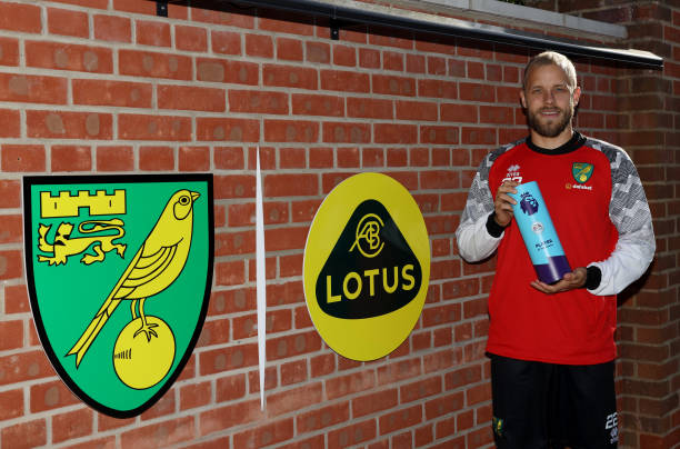 Pukki Party! Norwich Striker beats Sterling, Aguero and Firmino to Player of the Month Award