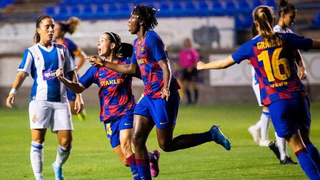 Oshoala scores the winner for Barcelona against Sporting de Huelva