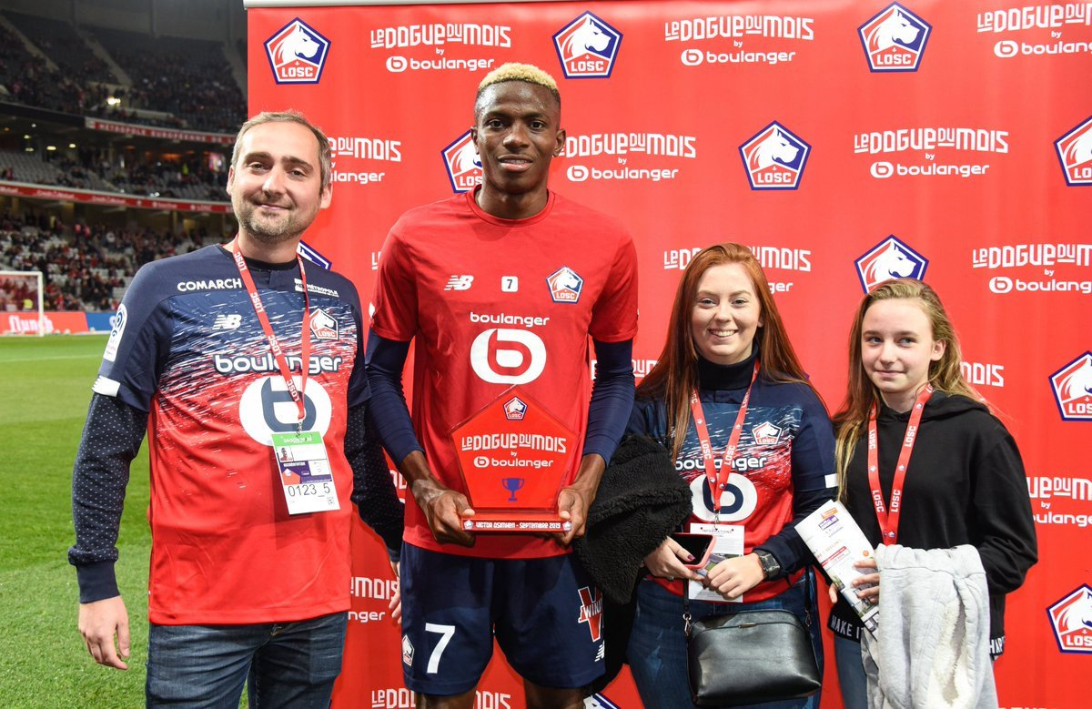 Nigeria's hottest property Osimhen wins Lille's player of the month award