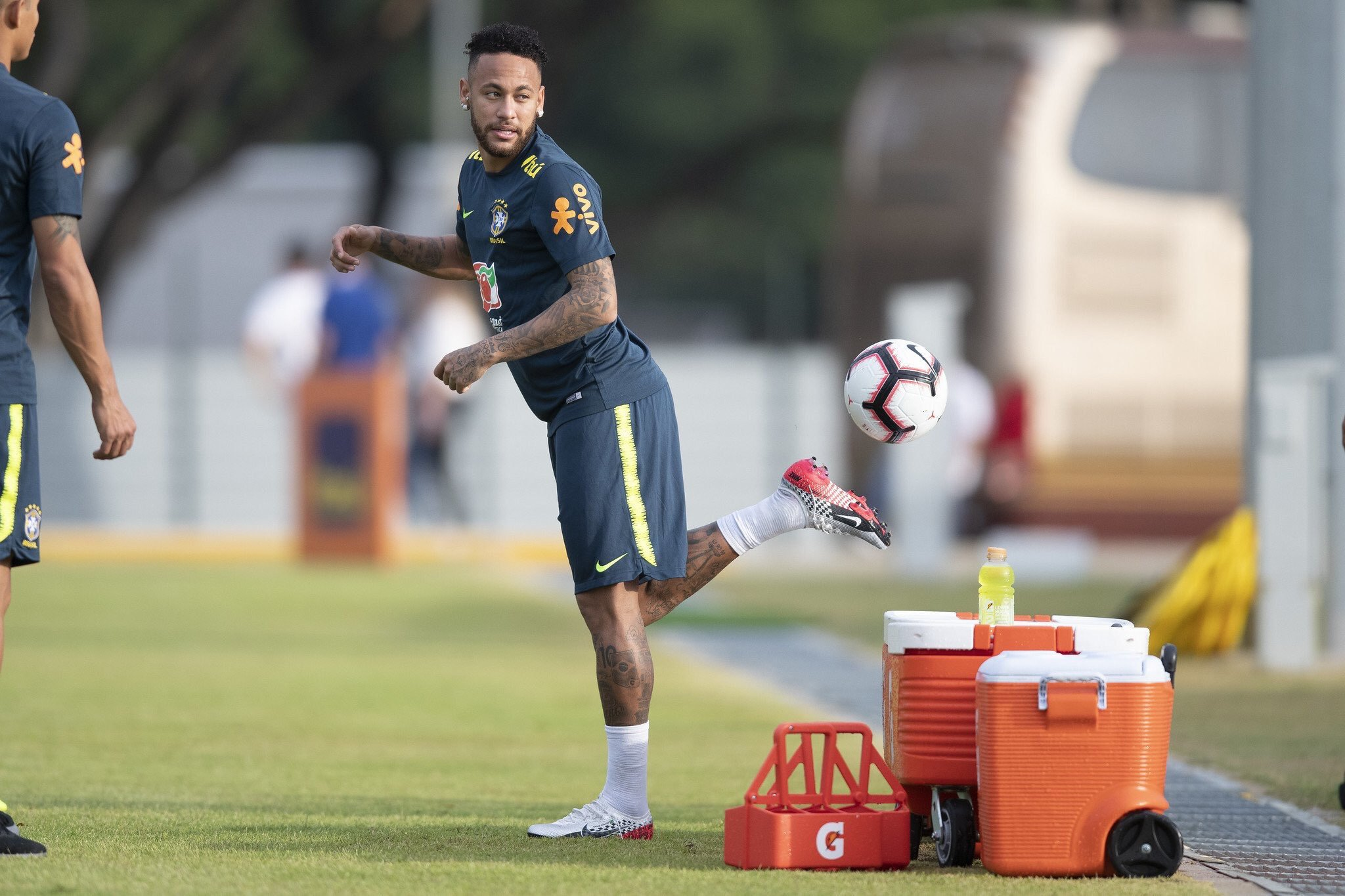 Brazil holds first training session ahead of clash with Eagles