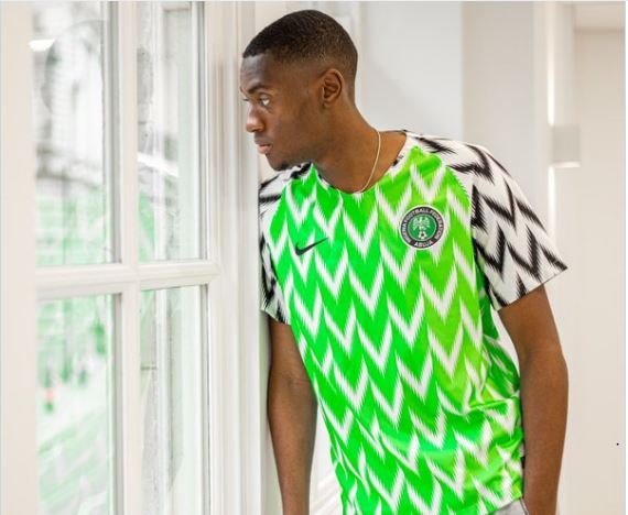 Pitching for invite? Man City defender Adarabioyo Celebrates Nigeria at 59 in Super Eagles jersey