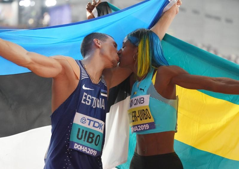 Husband and Wife, Uibo and Miller Uibo each win silver in men's and women's decathlon event in Doha
