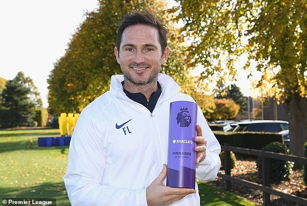 Frank Lampard wins Premier League Manager of the Month prize for October