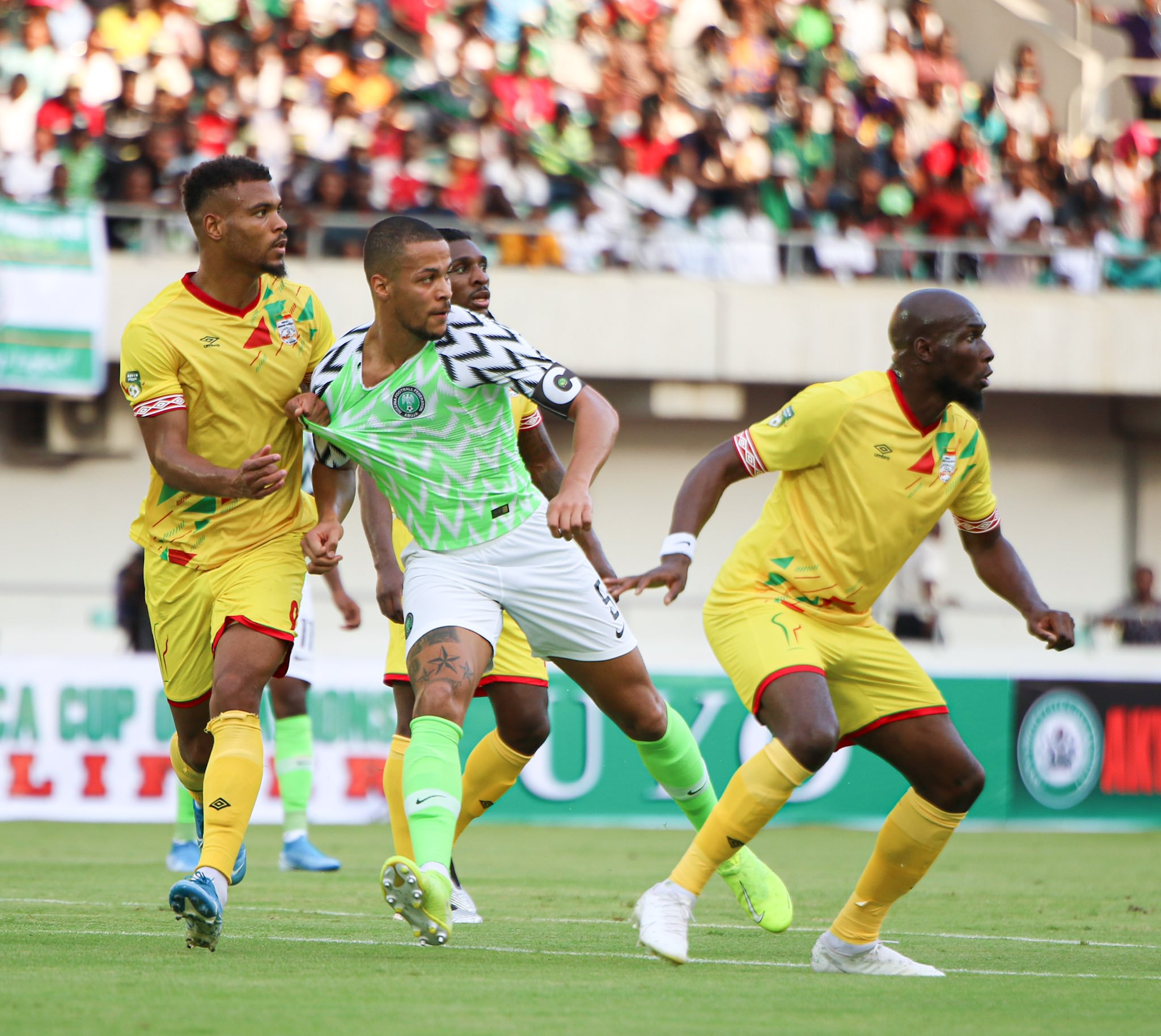 Ekong hails special Eagles win over Benin Republic
