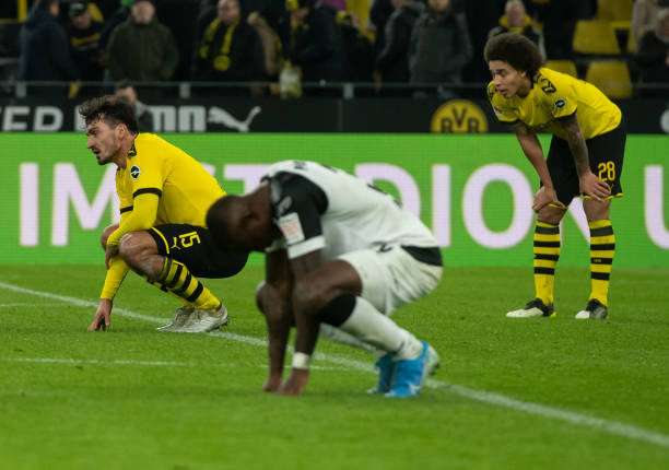 Collins and Paderborn teammates throw away three goals at Dortmund