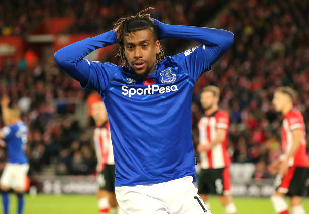 Everton wants to offload Alex Iwobi