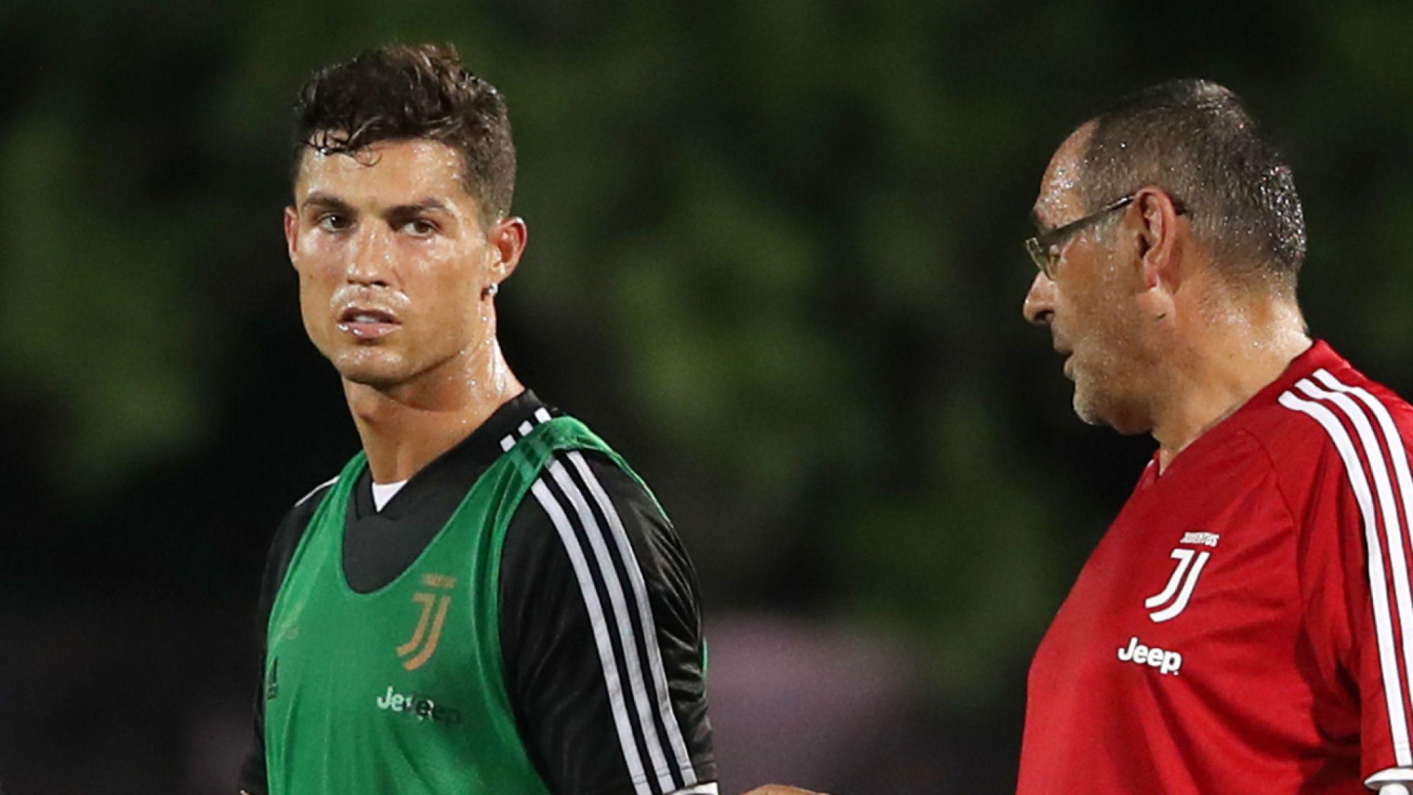 Sarri and Ronaldo no get quarrel