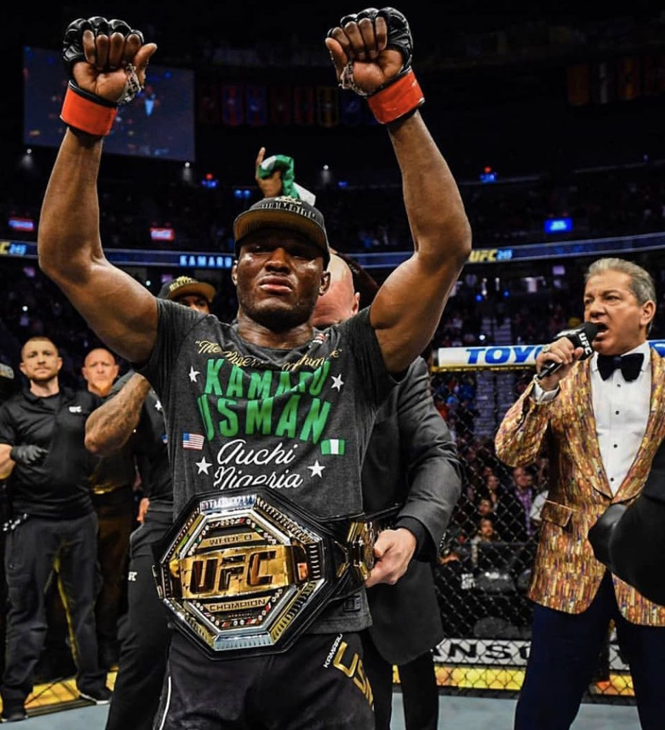 Kamaru Usman to present his title to American President Donald Trump