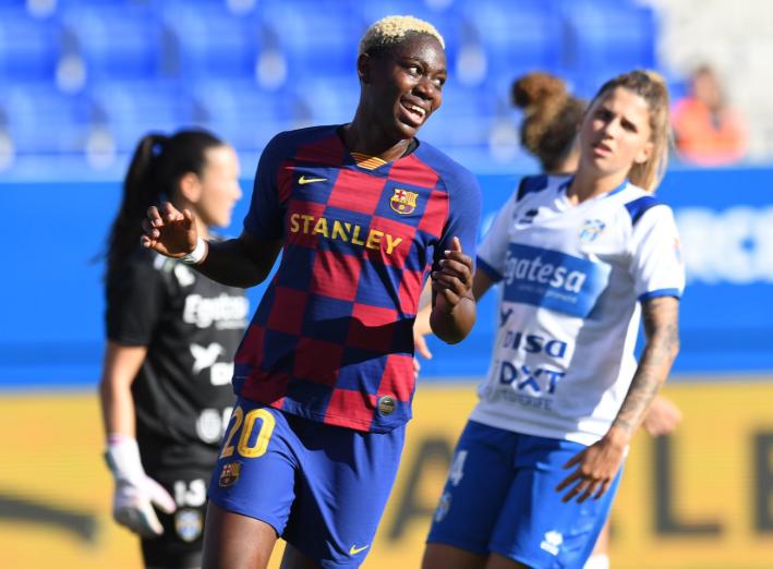 Asisat Oshoala ends goal scoring drought, inspires Barcelona year-ending Victory