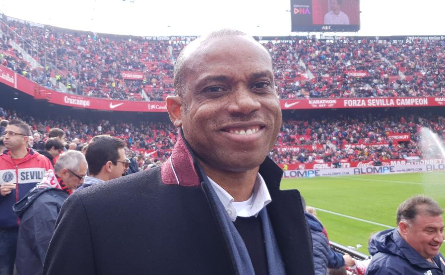 Oliseh Scouts Awaziem during Leganes La Liga visit to Sevilla