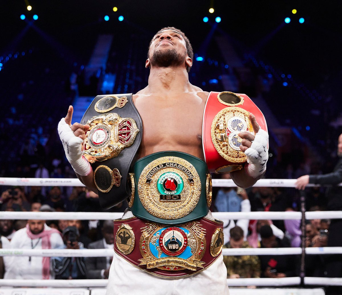 World Champion Joshua to present his world titles to President Buhari