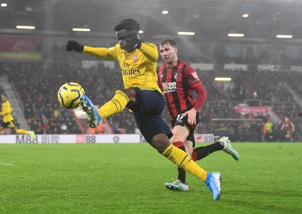 Bukayo Saka rated as one of Arsenal's best against Bournemouth