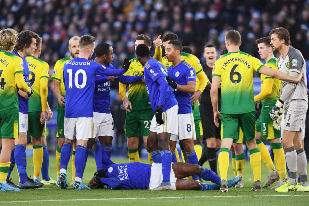 Injury Scare as Iheanacho is subbed off Early in Leicester draw vs Norwich