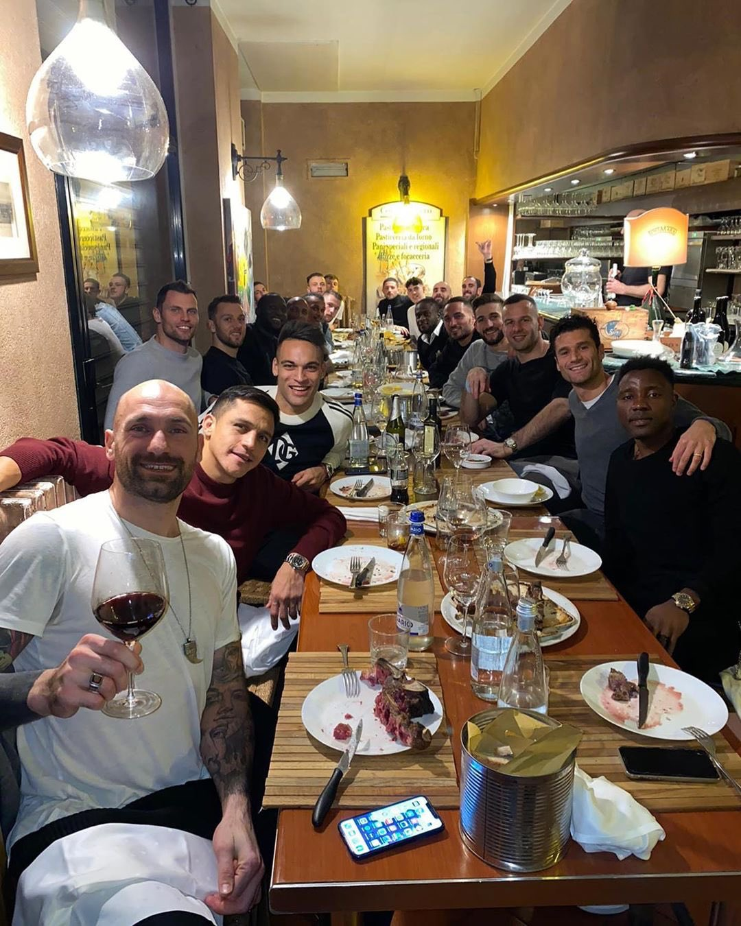 Victor Moses pictured with Inter squad