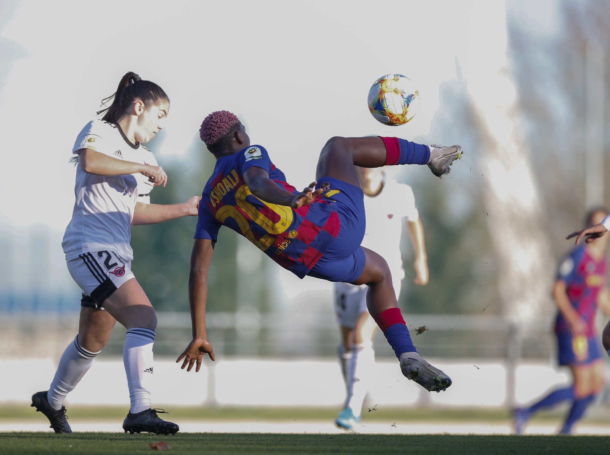 Oshoala bags four goals as Barcelona tears Madrid club, Tacon apart