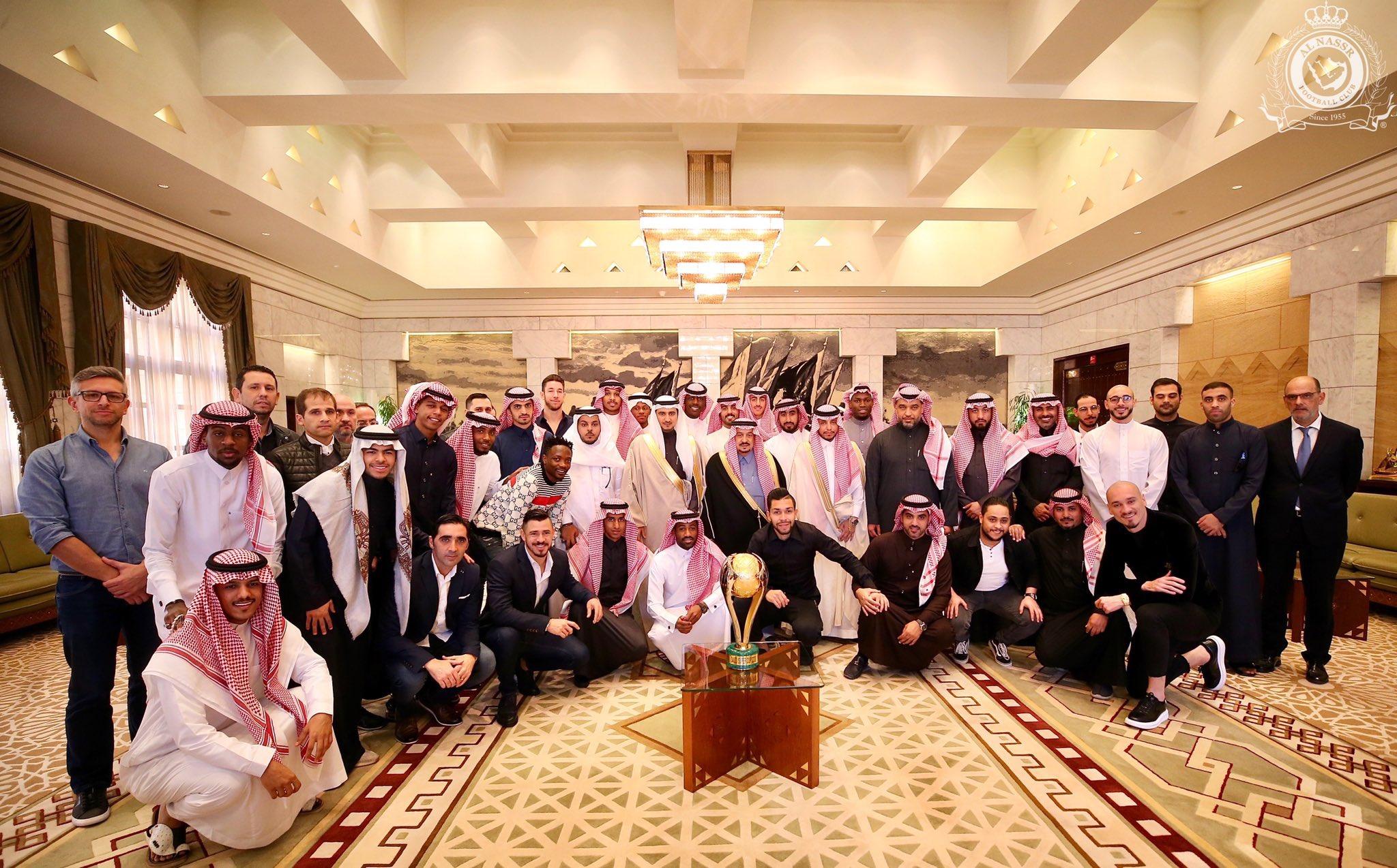 Prince of Saudi Arabia hosts Musa and Al Nassr teammates
