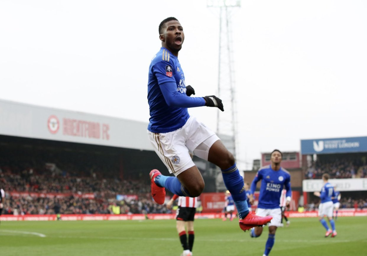 Iheanacho reacts to his heroic display for Leicester City