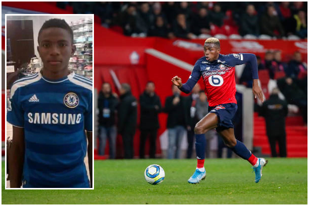 Chelsea Linked with Osimhen Recently, Throwback Picture Shows Striker in a Blues Shirt