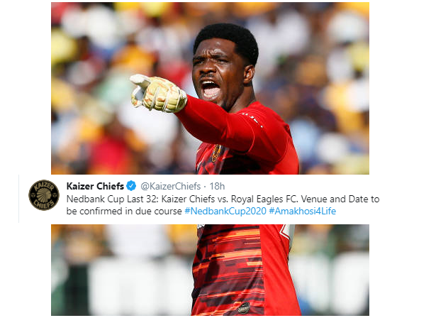 Tricky Round of 32 Cup tie for Akpeyi and Kaizer Chiefs