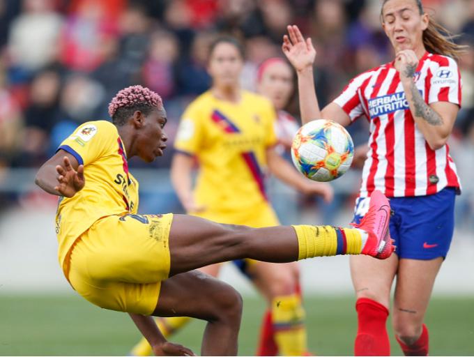 Oshoala stars as Barcelona edges closer to historic treble