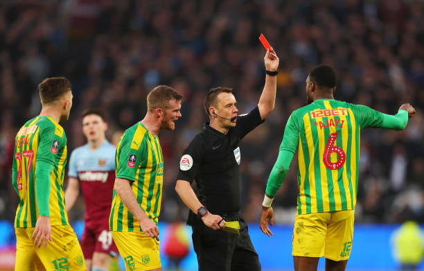 Semi Ajayi sees Red but West Brom Seal Narrow Win Over West Ham