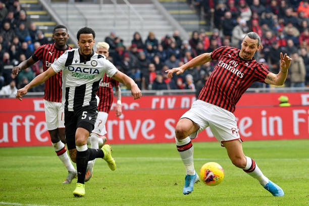 Ekong Passes Zlatan Test, but Udinese lose to late Rebic Strike in Five-goal Thriller