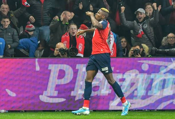 Osimhen fires Lille to three points at Strasbourg