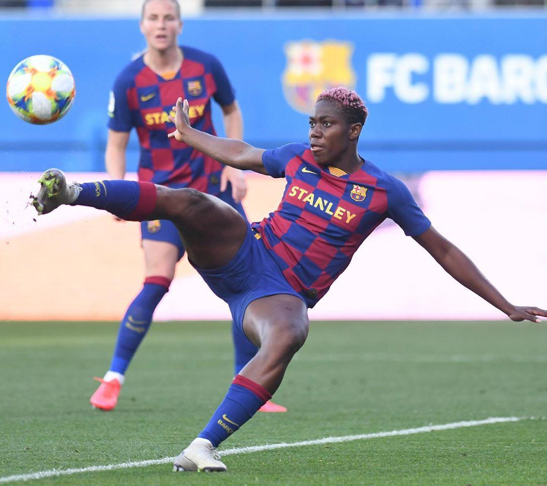 Oshoala celebrates another brace for Barcelona