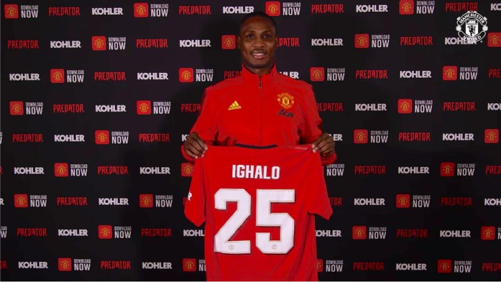 Manchester United unveils Odion Ighalo