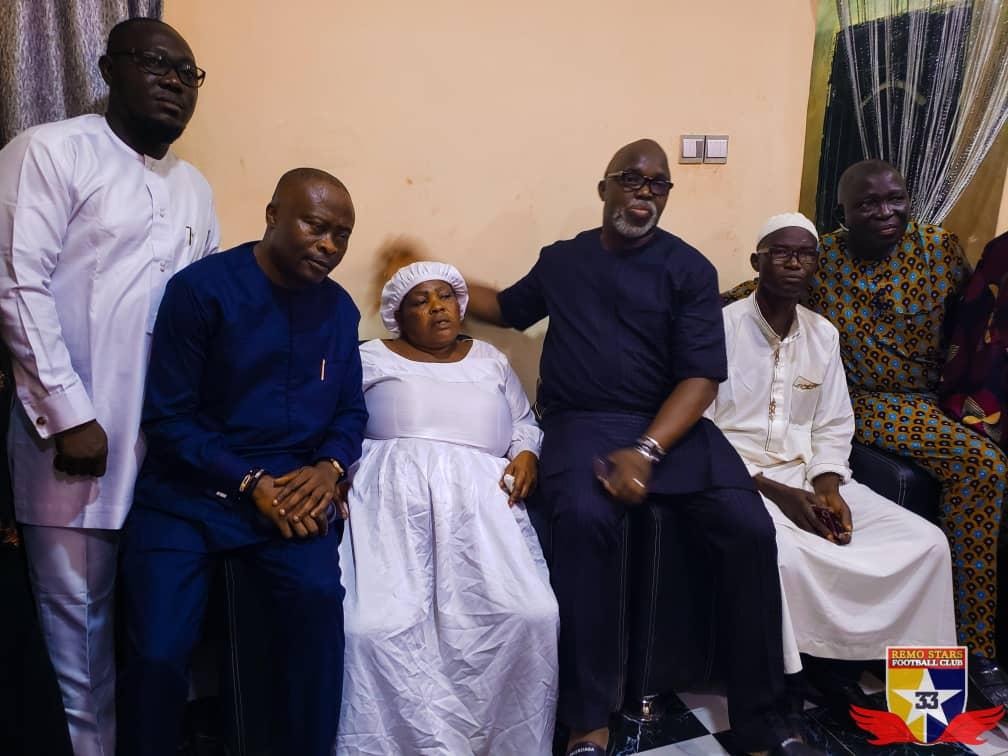 Kazeem Tiamiyu: NFF President Amaju Pinnick pays condolence visit to family of slain Remo Stars' player