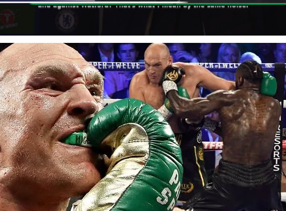 Nigerian Flag and Name carried on Tyson Fury's Gum Shield in Fight against Deontay Wilder
